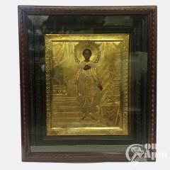 """Икона """"Святой Благоверный Александр Невский"""" в киоте"""