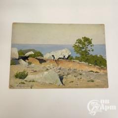 """Картина """"Камни на фоне моря"""" 1892 г."""
