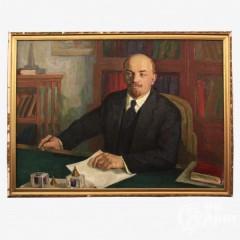 """Картина """"Портрет В.И. Ленина в кабинете"""""""