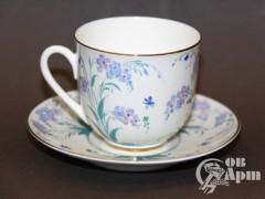 """Кофейная пара """"Голубые цветы"""""""