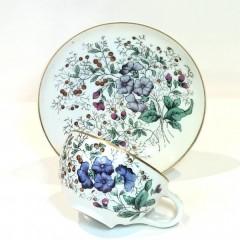 Кофейная пара «Синие цветы» завода Корниловых
