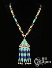 Колье-подвеска Hattie Carnegie в египетском стиле