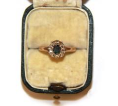"""Кольцо """"Малинка"""" с александритом и алмазами"""
