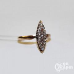 """Кольцо """"Маркиз"""" с алмазами"""