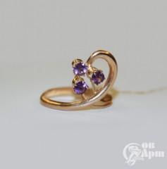 Кольцо с аметистами