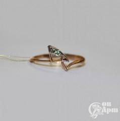 Кольцо с демантоидами