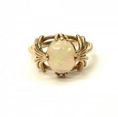 Кольцо с опалом в стиле ар-деко
