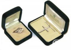 Комплект Mikimoto: крест и кольцо с жемчугом