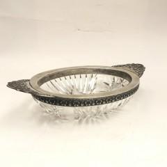 Конфетница хрусталь в серебре