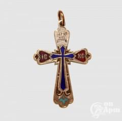 Крест нательный с эмалями
