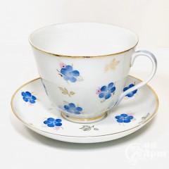 Крупная Чайная пара «Синие цветы»