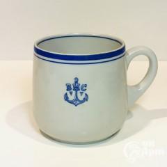 Крупный чайный бокал «Военно морские силы»