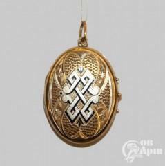 Медальон с черной эмалью