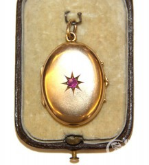 Медальон с рубином