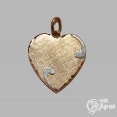 """Медальон трехстворчатый """"Сердце"""""""