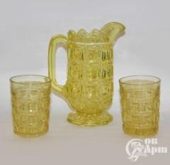Набор: 2 стакана и кувшин