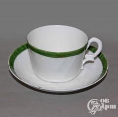 """Пара чайная """"Зеленая кайма"""""""