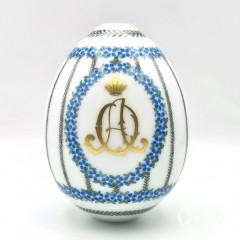 Пасхальное яйцо с вензелем императрицы Александры Фёдоровны