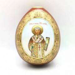 Пасхальное яйцо «Святитель Филипп митрополит Московский чудотворец»