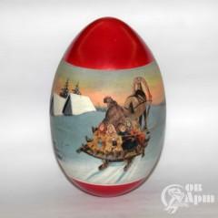 """Пасхальное яйцо в русском стиле """"На санях"""""""
