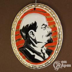 Плакетка с изображением В.И. Ленина