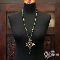 """Подвеска Chanel """"Крест"""" с цветными бусами Gripoix"""
