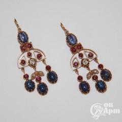 Серьги - подвески с бриллиантами, алмазами, рубинами, сапфирами