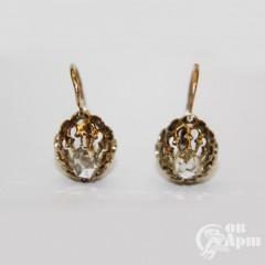 Серьги ажурные с алмазами