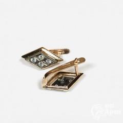 Серьги с бриллиантами «Ромбы»