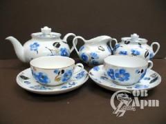 """Сервиз чайный """"Синие цветы"""""""