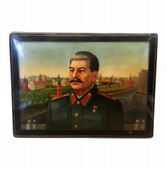 """Шкатулка лаковая """"Сталин"""""""