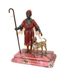 """Скульптура """"Араб с собакой"""""""