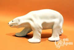 """Скульптура """" Белый медведь малый """""""