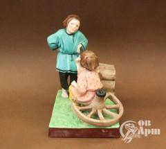 """Скульптура """"Играющие дети"""""""