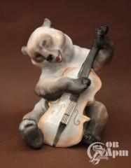 """Скульптура """" Медведь с контрабасом"""" (""""Квартет"""")"""