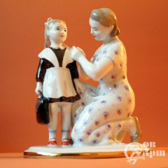"""Скульптура """"Первый раз в школу"""""""