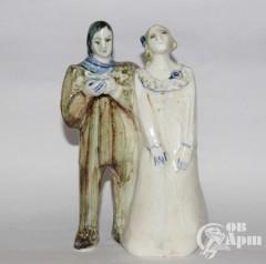 """Скульптура """"Пьеса #1"""", фаянс, Артамонова"""