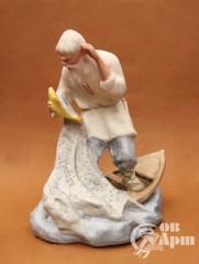 """Скульптура """"Старик и золотая рыбка"""""""