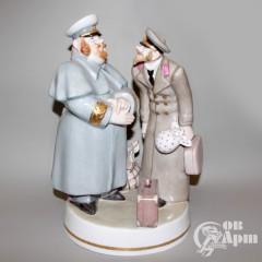 """Скульптура """"Толстый и тонкий"""" по произведению Н.В. Гоголя"""