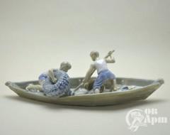 """Скульптура """"Юные рыбаки"""", Сотников А.Г., Дулево"""