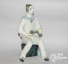 "Скульптура ""Жонглер #2"", фаянс, Артамонова"