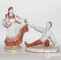 """Скульптуры парные """"Плясуны"""" Вербилки"""