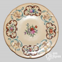 Тарелка с изображением цветов