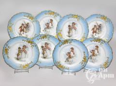 Тарелочки пирожковые с изображением пасторальных сцен