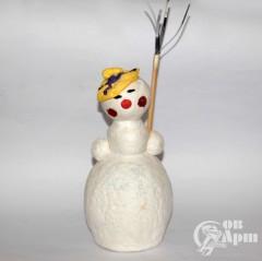 """Ватная елочная игрушка """"Снеговик"""""""