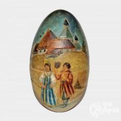 Яйцо пасхальное с изображением празднования Пасхи