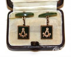Запонки с масонской символикой