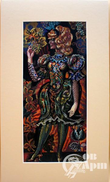 """Творческое наследие В.М.Городецкого.Декоративный этюд """"Женщина с виноградом"""""""