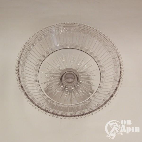 Ваза для фруктов аметистовое стекло