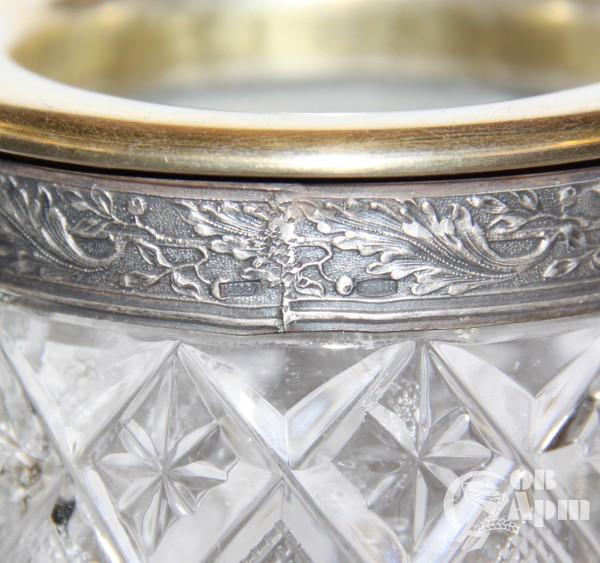 Ваза для цветов хрусталь в серебре